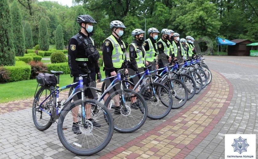 В Кривом Роге полицейские сели на велосипеды