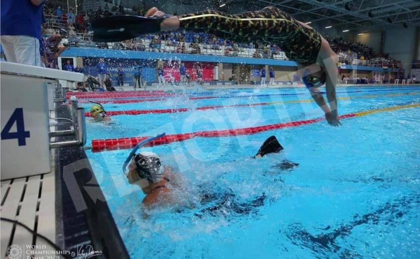 Криворожанка Ирина Пикинер завоевала «бронзу» в эстафете на ЧМ по скоростному плаванию в ластах