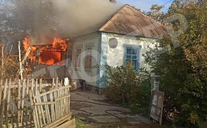 В Кривом Роге произошел пожар на территории частного домовладения