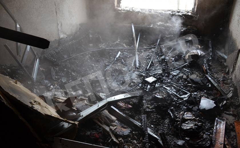 Криворожская квартира сгорела дотла